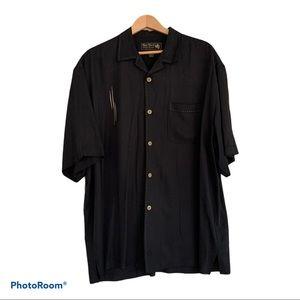 Nat Nast Men's Shirt Silk Bowling Short Sleeve XL